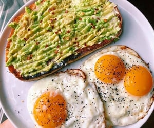 avocado, breakfast, and healthy image