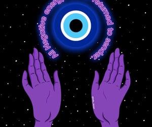 blue, evil eye, and purple image