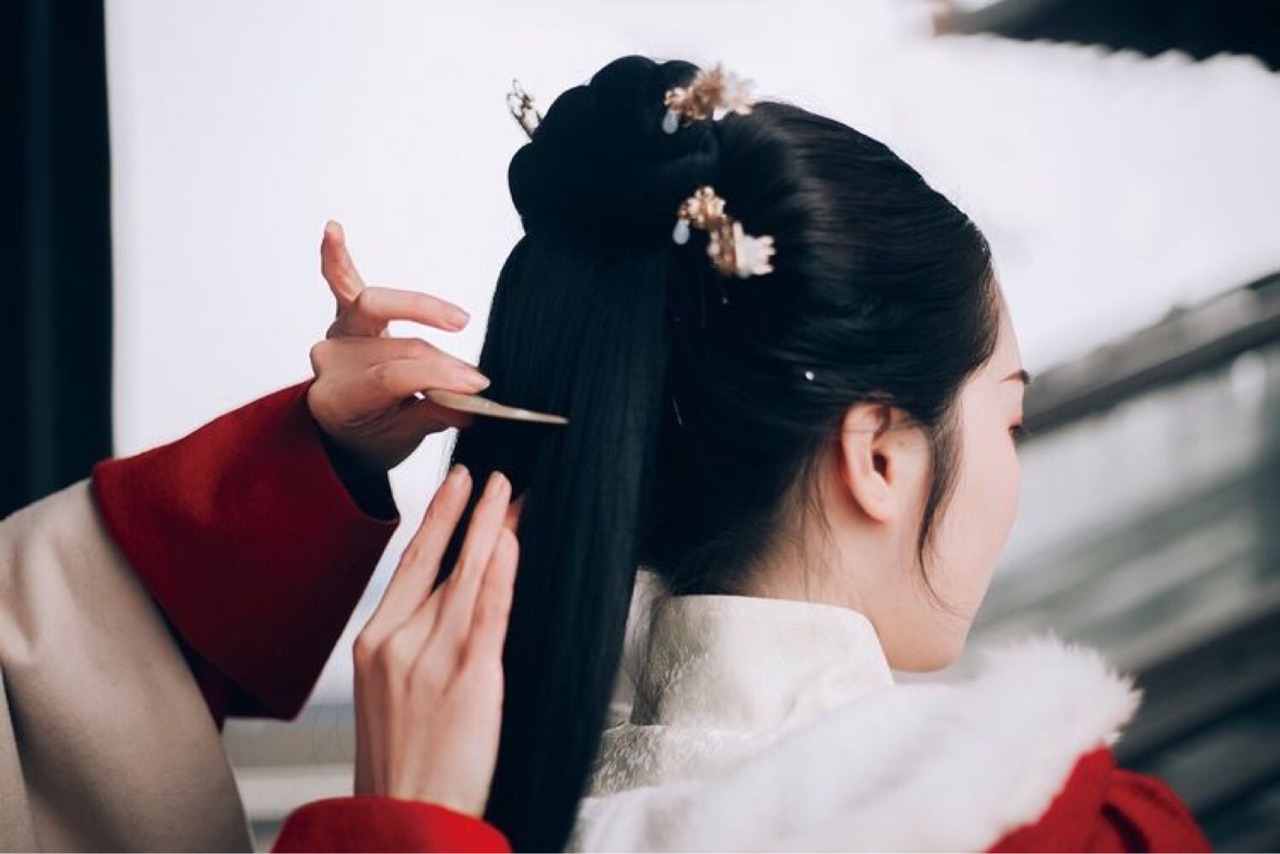 aesthetic, asian, and bun image