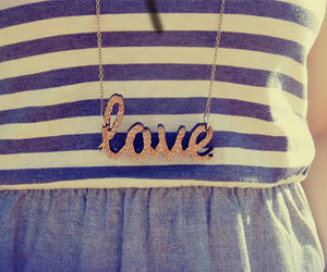 love, necklace, and blue image