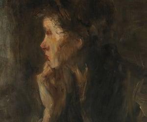 art, painting, and dark academia image