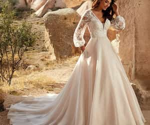 ball gown, haute couture, and wedding image