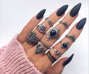 beautiful, silver ring, and silver jewelry image