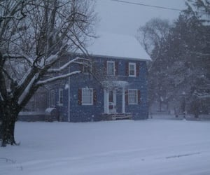 home, suburbs, and winter image