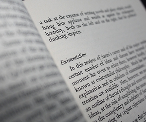 book, page, and existentialism image
