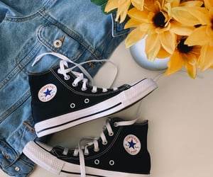 blackandwhite, converse, and all star converse image