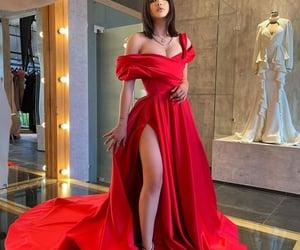 red prom dress, cheap prom dresses, and elegant prom dresses image