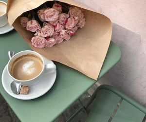 bouquet, cafe, and drink image