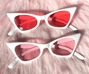 pink, red, and sunglasses image