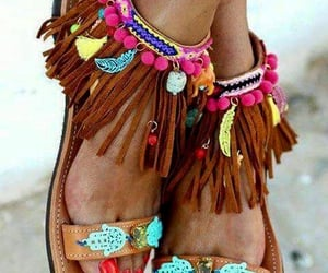 beach sandals, fuzzy slide on slippers, and sandals with studs image