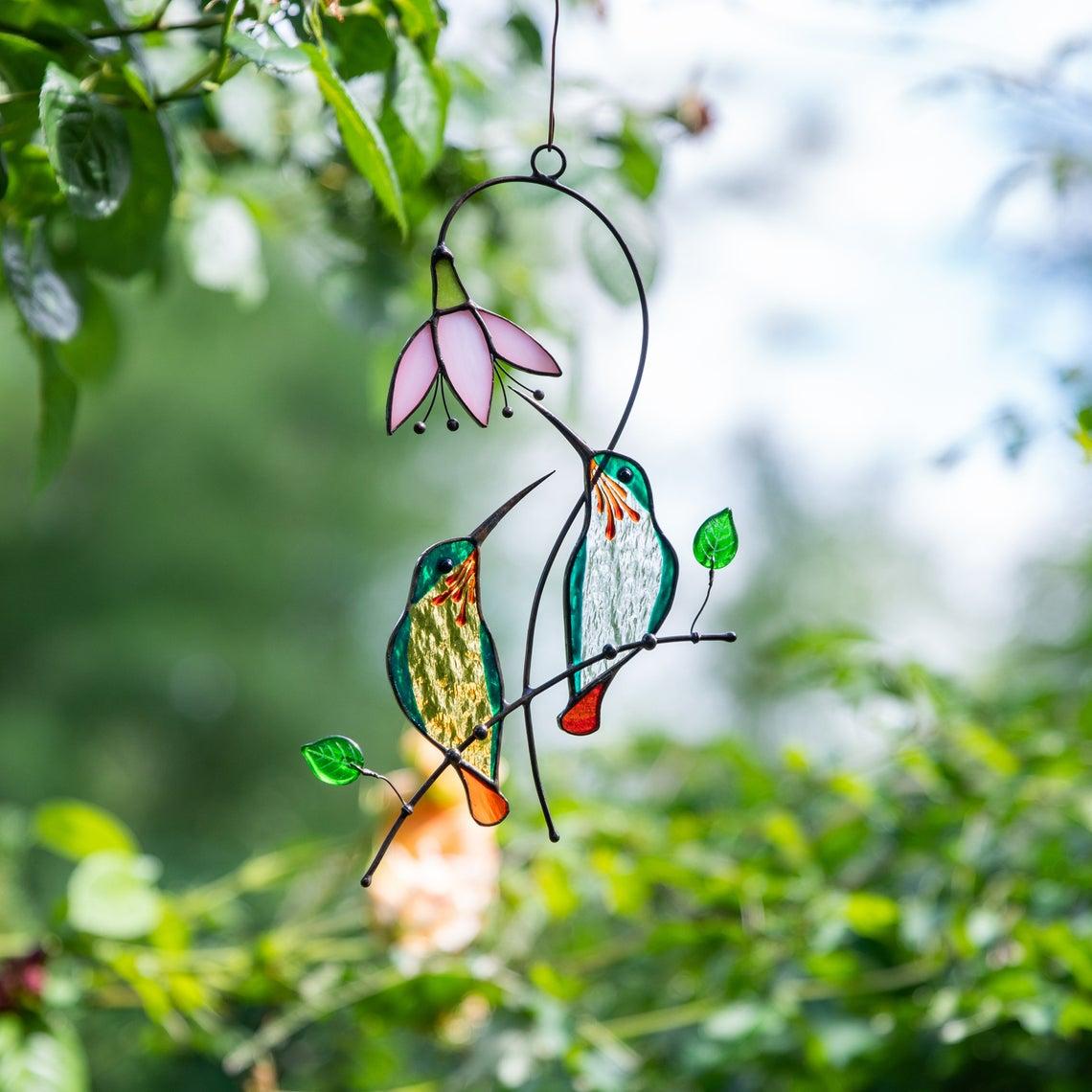 decor, garden, and hummingbird image