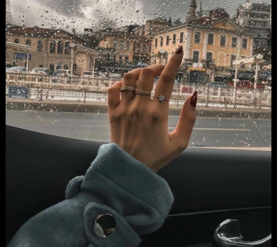 rain, aesthetic, and nails image