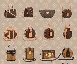 background, LV, and bag image