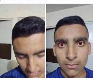 f, fake, and red eyes image