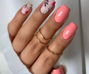 beauty, pink, and naildesign image