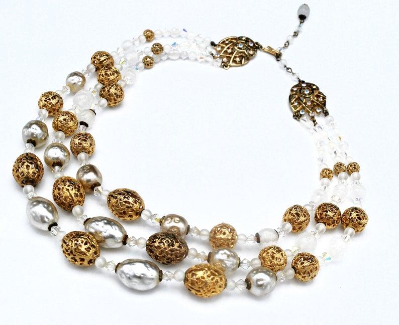 aurora borealis, crystal necklace, and etsy image