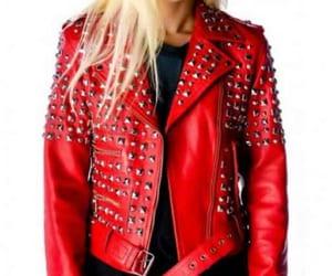 apparel, celebrity, and leatherjacket image