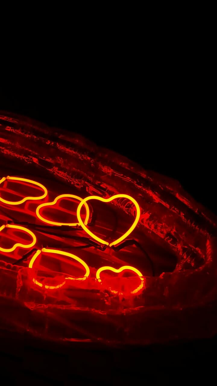 boat, hearts, and light image