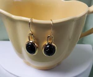 earrings, birthday gift, and black onyx image