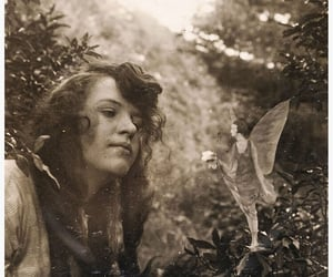 b&w, Fairies, and meadow image
