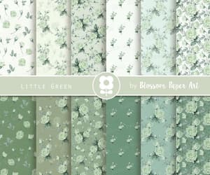 etsy, scrapbooking paper, and floral scrapbook image