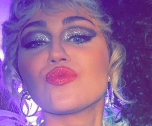 glitter, makeup, and miley cyrus image