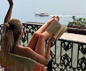aesthetic, book, and chill image