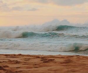 beach, calm, and ocean image