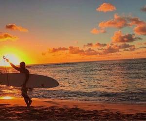 ocean, orange, and pretty image