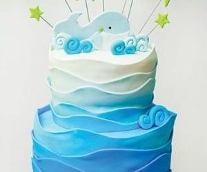 cake, ocean, and sea image
