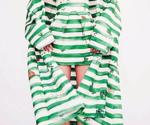 fashion, stripes, and green image