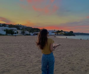 aesthetic, girl, and travel image
