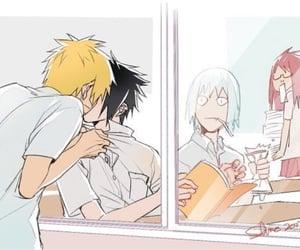 anime, naruto, and sasunaru image