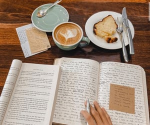 aesthetic, beige, and books image