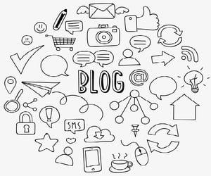 blog, blogging, and marketing digital image