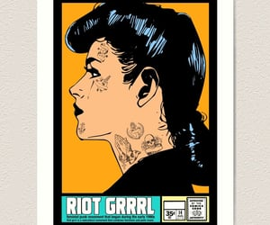 punk girl, redbubble, and vintage girl image