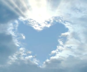 clouds, dreamy, and heart image