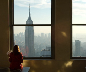 big window, empire state, and fifth avenue image
