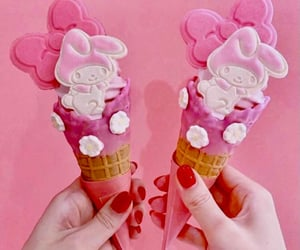 bow, ice cream, and manicure image