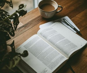 book, home, and coffee image