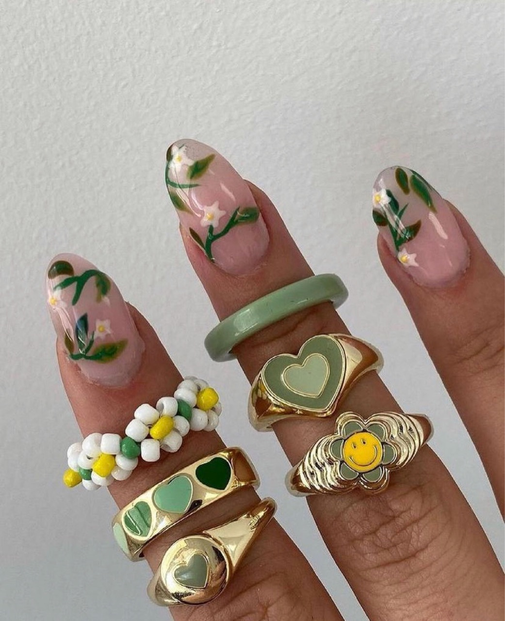 nails, aesthetic, and green image