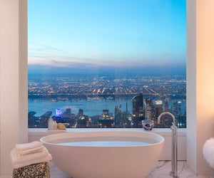 bathroom, luxury, and view image