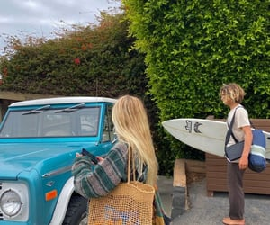 happy, hobby, and surfing image