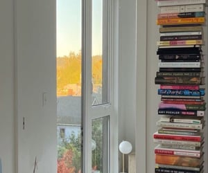 apartment, books, and city image