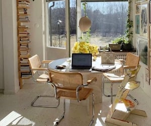 apartment, books, and computer image