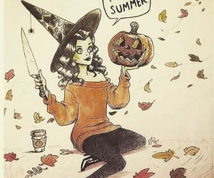 art, cartoon, and witch image