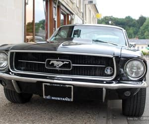 black, ford, and mustang image