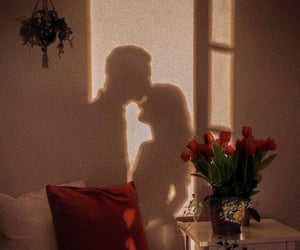 couple, shadow, and flowers image