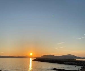 evening, Island, and sea image