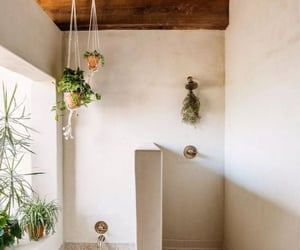 bath, rustic, and shower image